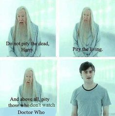 Dumbledore's infinite wisdom extends to Doctor Who.