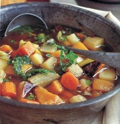 Roasted Winter Vegetable Soup Recipe