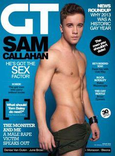 X Factor's Sam Callahan! GT 428 - January 2014 en gay, gay time, magazin cover, callahan desnudo, samcallahan, spi, sam callahan, otra vez, desnudo otra