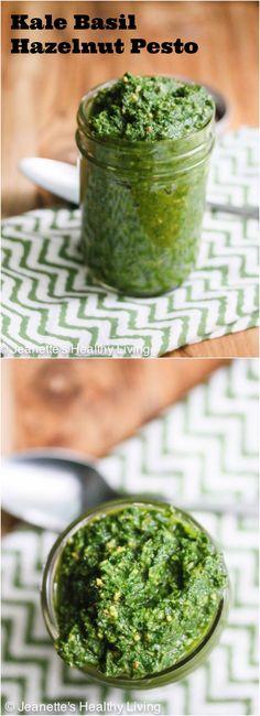 Kale Basil Hazelnut Pesto #food #paleo #grainfree #glutenfree #kale #sauce #pesto #basil #hazelnut