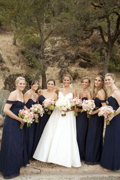 I hate these dresses but I like the bridesmaid's colors.
