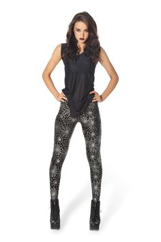 Spider Web Leggings › Black Milk Clothing