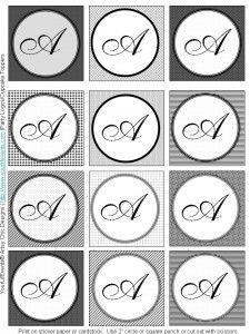 logos, monogram fonts free, crafti, monogram printabl, monogram label