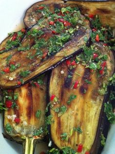 Spicy Middle Eastern Eggplant Slices
