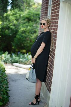 Barefoot Blonde - maternity little black dress - #maternity fashion style