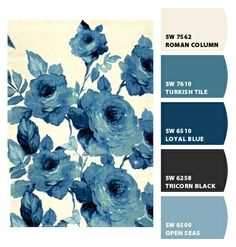 cool blues saturated sophisticated classy hues deep navy monochromatic slate grey gray darker old fashioned modern roses lady wallpaper interior exterior scheme boys room play room office den basement lake house beach house grandma fine china textiles curtains branding marketing fashion haute palette Paint colors from #Chipit! by #Sherwin-Williams chip, house colors exterior blue, colour scheme blue grey, colour palette navy, blue exterior house colors, office colors, slate blue color palette, paint colors, navy blue china