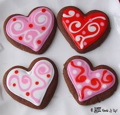 valentine cookies, sugar cooki, heart cookies, chocol cutout, icing recipes, valentin cooki, chocolate cookies, glaze ice, cut outs