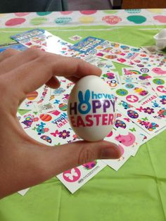 How to put temporary tattoos on Easter eggs and dye them.