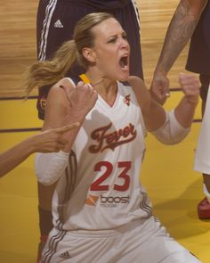 Katie Douglas in the Indiana Fever's Game 2 victory in the 2012 Eastern Conference Finals against the Connecticut Sun.