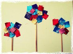 Toddler art: Rainbow fabric tree – Toddler Activities, Games, Crafts