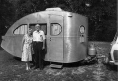 Dr. Holman's 1935 Airstream Torpedo is a remnant of history. It is the oldest existing Airstream trailer.
