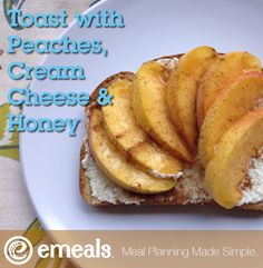 healthy snacks, clean eat, healthy eating, healthy baked peaches, breakfast idea, cleaneat, healthi recip, peaches and cream snack, cream chees