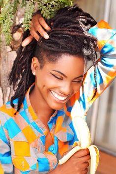 That smile. Those #locs. Gorgeous.