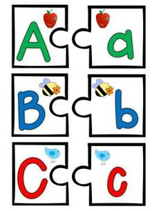 Learning My ABCs Activity Pack$:  ABC capital/lower case matching puzzle fun differentiated for your students!