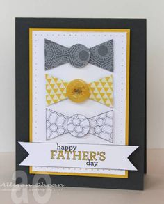 card idea, fathers day crafts ties, sweet impress, bow tiesgray, father day, father bow, bows, fathers day cards, masculin