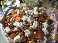 Ajile is a Fruit and Nut mixture, If you are a Persian-Jew as I am,this is always in our homes. ( just in case someone comes by) Enjoy!
