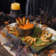 Chicken ladyfingers to spice up your next halloween party.