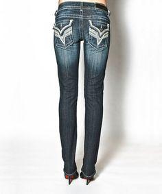 Look what I found on #zulily! Dark Wash New York Flap Straight-Leg Jeans - Women by Vigoss #zulilyfinds