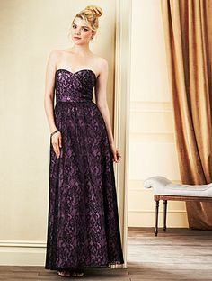 Alfred Angelo Bridesmaid Style 7262L in Black/Royal Bloom