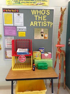 Art Room Blog - great ideas and organization for independent students