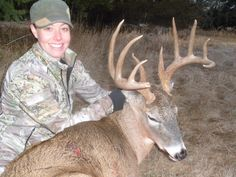 Brali and her 2012 Buck!  Brali is sporting the Prois Pro-Edition Jacket in Max1!  www.proishunting.com