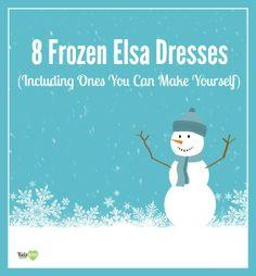 8 Fabulous Disney Frozen Elsa Dresses (6 You Can Make Yourself) and 1 DIY Frozen Cape