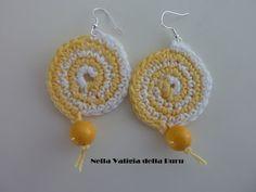Tutorial Uncinetto in italiano: come fare orecchini con spirale bicolore
