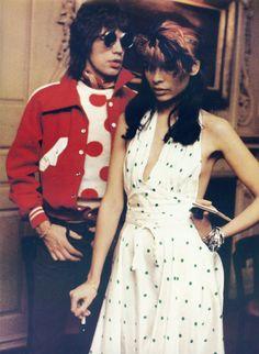 Dots on dots: Mick Jagger and Bianca Jagger