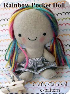 etsy size rainbow pocket doll pattern cover | Flickr - Photo Sharing!