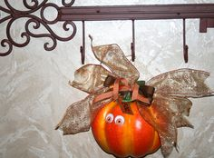 Halloween Pumpkin Hair Bow Home Decor