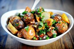 Chipotle lime roasted potatoes.