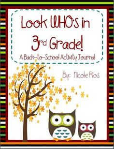 This 3rd grade Back-To-School Activity Journal will provide you with important information about your new students. Includes second grade ELA and MATH skills review,  a fun writing topic for the first ten days of school, and Assessment Analysis and Instructional Planning pages. This journal is also available in 1st and 2nd grade versions. $