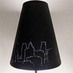 DIY Straightpin illuminated lampshade