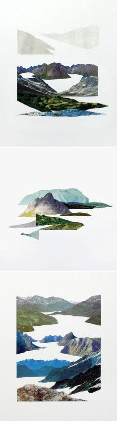 "Spanish artist Raúl Lázaro: ""river systems"" series, collage"