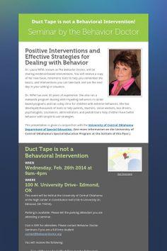 Seminar by the Behavior Doctor