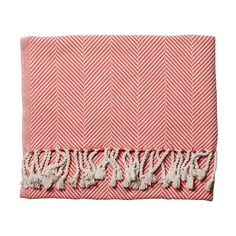 Coral Herringbone Throw, $250 | Serena & Lily -- Land's End has a similar throw for $30: www.landsend.com/products/herringbone-cotton-throw/id_260061