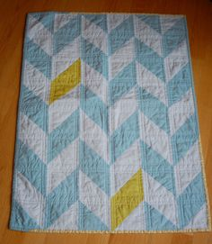 Modern Baby Quilt by TheEarlyGirl on Etsy