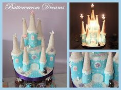 Snow castle cake