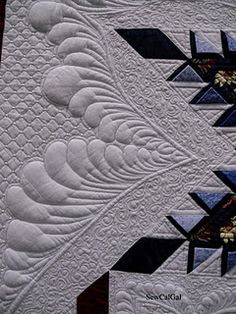 did she really bead the corners of the crosshatch? Beautiful.