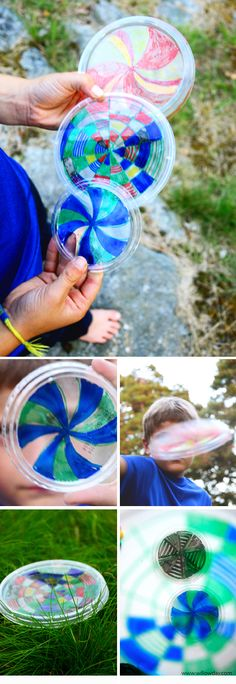 Make a Recycled Kaleidoscope Frisbee | willowday