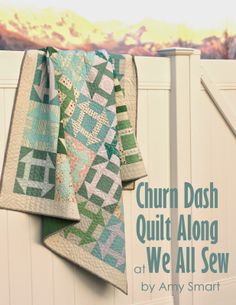 Amy Smart of Diary of a Quilter is hosting a Free Fast Churn Dash Quilt Along! She is using some low volume prints from my Rapture collection. Fun! <3 #amysmart #patbravo #quiltalong #quilt