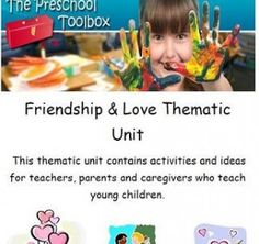 #Valentinesday Love and Friendship Theme - now FREE to download and Print - #preschool #teachers #kindergarten