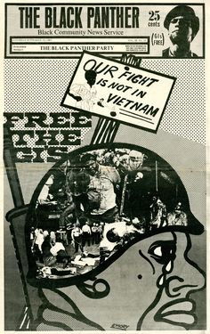 The Black Panther newspaper, September 1969. Cover design and illustration: Emory Douglas.