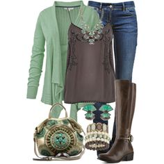 """""""Chocolate Mint for Fall"""" by jennifernoriega on Polyvore"""