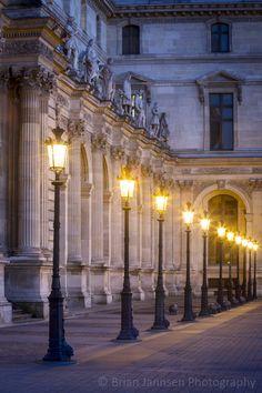 Louvre Lampposts, Paris France. © Brian Jannsen Photography