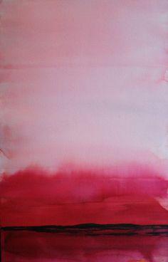 """Saatchi Online Artist: Koen Lybaert; Watercolor, 2013, Painting """"Mirria III"""""""