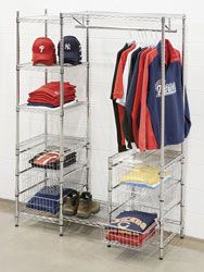 Garment Storage Centers- No tools required, space-saving, all-in-one organizer for offices, closets and storage areas.