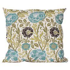 aqua thistle pillow: outdoor pillow, so pretty