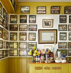 Photo Credit: Pieter Estersohn. Maple HillC.V. Whitney FarmLexingtonAn informal bar is lined with photographs of many of the Whitneys' Thoroughbreds and their racing triumphs.