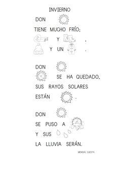 Poesías con pictogramas